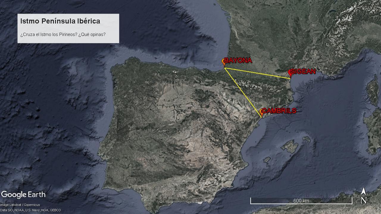 Itsmo de la Península Ibérica