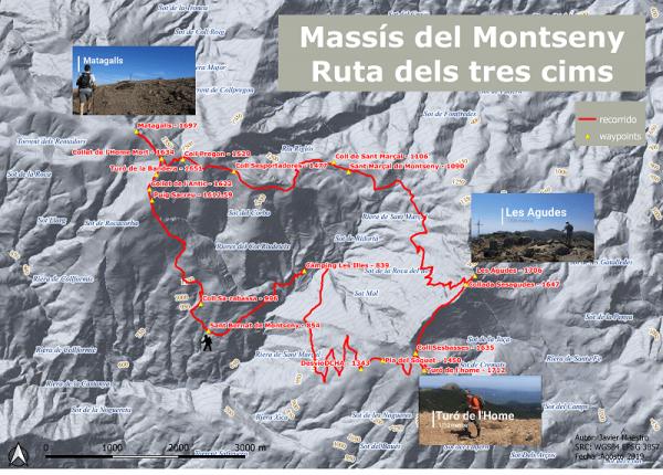 Ruta del tres cims Montseny