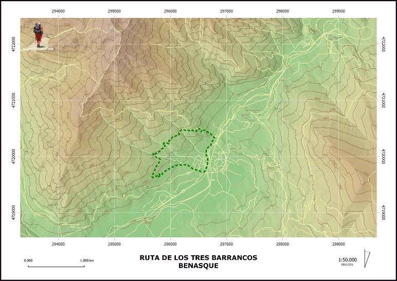 Mapa Tres Barrancos Ruta
